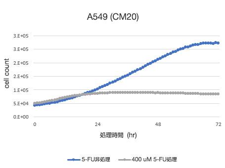 CM20により定量した細胞数