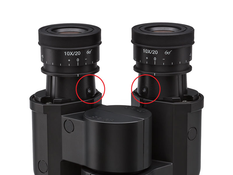 Fixed Eyepieces Prevent Damage or Loss