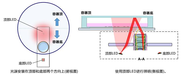 图8.对容器的下半部分成像